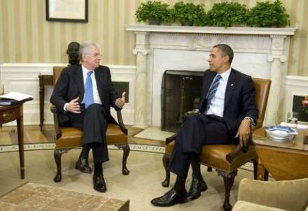 President Obama meets with Prime Minister Mario Monti of Italy